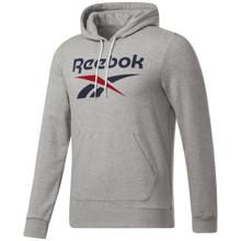 Reebok Identity Big Logo Hoodie, Medium Grey Heather