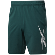 Reebok Workout Ready Graphic Shorts, Forest Green