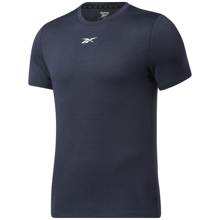 Reebok Workout Ready Melange Short Sleeve Shirt, Vector Navy