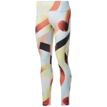 Reebok Lux Bold Retro Women's Leggings, Orange Flare