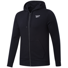 Reebok Identity French Terry Full Zip Hoodie, Black