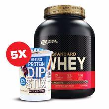 100% Whey Gold Standard, 2270 g + 5x Protein Dip Stix, 52 g GRATIS