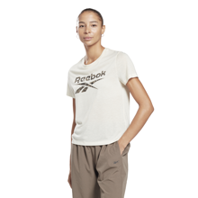 Reebok Workout Modern Safari SS Women's Shirt, Classic White