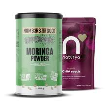 Moringa Powder, Organic, 150 g + Organic Chia sjemenke, 175 g GRATIS