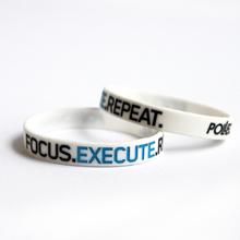 Motivationsarmband, Silikon, Focus Execute Repeat