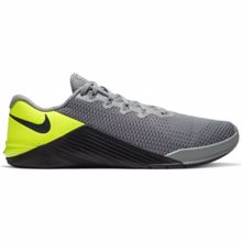 Nike Metcon 5 Training Shoe, Grey/Volt /Dark Smoke Grey