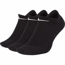 Nike Everyday Cushion No-Show Training Socks, 3 Pair, Black/White