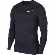 Nike Pro Long-Sleeve Compression Top, Black/White