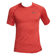 Nike Pro Short-Sleeve Training Top, Night Maroon/University Red