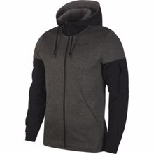 Nike Therma Full Zip Dri-Fit Hoodie, Charcoal Heather/Black