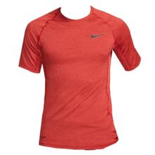 Nike Pro Short-Sleeve Training Top, Night Maroon/University Red