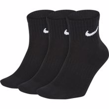 Nike Everyday Lightweight Ankle Traning Socks, 3 Pair, Black/White