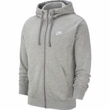 Nike Sportswear French Terry Hoodie, Dark Grey Heather/White