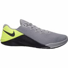 Nike Metcon 5 Training Shoe, Grey/Volt /Dark Smoke Grey