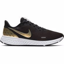 Nike Revolution 5 Women's Running Shoes, Black/Metallic Gold