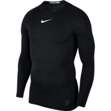 Nike Pro Men's Long Sleeve Top, Black/White/White