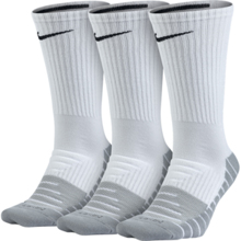 Nike Dry Cushion Crew Training Sock, 3 Pair, White/Grey/Black
