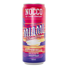 NOCCO BCAA Miami Strawberry, 330 ml
