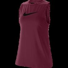 Nike Essential Women's Swoosh Washed Tank, Dark Beetroot/Black