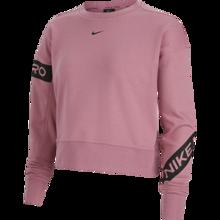 Nike Pro Dri-Fit Get Fit Women's LS Shirt, Desert Berry/Black