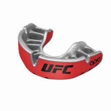 Opro Self-Fit UFC Gold Mouthguard, Red/Silver