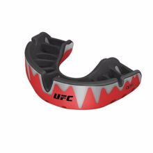 Opro Self-Fit UFC Platinum Fangz Mouthguard, Red Metal/Black
