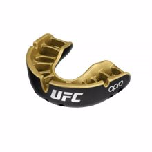 Opro Self-Fit UFC Gold Youth Mouthguard, Black Metal/Gold