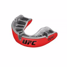 Opro Self-Fit UFC Gold Youth Mouthguard, Red/Silver