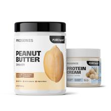 Peanut Butter, Smooth, 900 g + Protein White Chocolate Cream, 200 g GRATIS