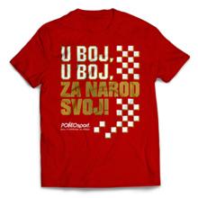 Majica CRO Polleo Sport, crvena, muška