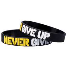 Motivacijska zapestnica, Never Give Up