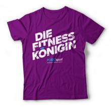 Polleosport Fitness Königin T-Shirt, Purple
