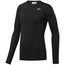 Reebok Workout Ready Compression Long Sleeve Shirt, Black