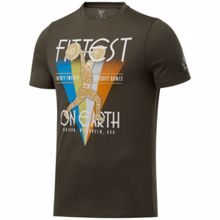 Reebok RC Fittest On Earth SS Shirt, Green