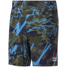 Reebok Crossfit Austin II All Over Print Shorts, Poplar Green
