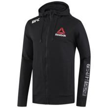 Reebok UFC Fight Night Blank Walkout Hoodie, Black/Chalk