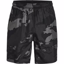 UA Speed Stride Print Shorts, Black/Reflective