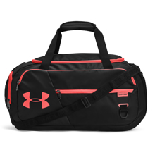 UA Undeniable 4.0 Small Duffle Bag, Black/Venom Red