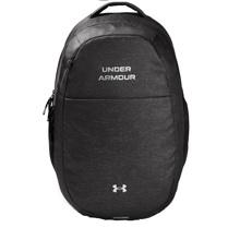 UA Hustle Women's Signature Backpack, Jet Grey/Metallic Silver
