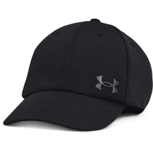 UA Women's Play Up Wrapback Cap, Black/Jet Grey