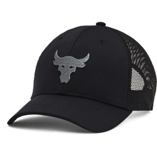UA Project Rock Trucker Cap, Black/Pitch Grey