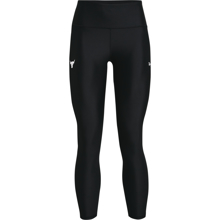 UA Women's Project Rock 7/8 Leggings, Black/Summit White