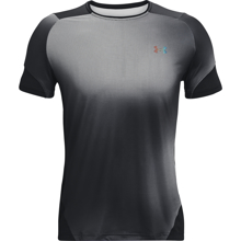 UA Rush 2.0 HeatGear Print SS Shirt, Black