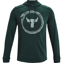 UA Project Rock French Terry Hoodie, Snake Ivy/Fisher Green
