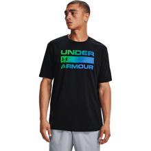 UA Team Issue Wordmark Shirt, Black/Blue Circuit