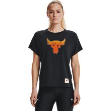 UA Project Rock Bull Women's SS Shirt, Black