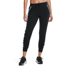 UA Rival Terry Taped Women's Pants, Black/Mod Grey
