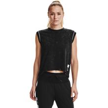 UA Run Anywhere Women's SS Shirt, Black/White