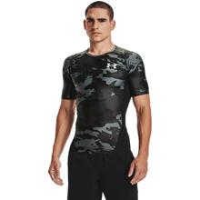 UA Isochill HG Compression Printed Short Sleeve Shirt, Black/White