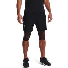UA Run Anywhere 2-in-1 Shorts, Black/Venom Red